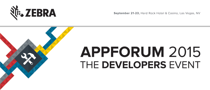 ZEBRA - APPFORUM 2015 - THE DEVELOPERS EVENT