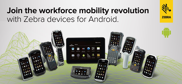 Join the workforce mobility revolution with Zebra devices for Abdroid.